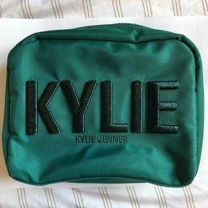NWOT Kylie Cosmetics Makeup Bag - Green & Gold